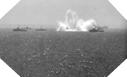 Image : Les dragueurs Alliés détruisent en Manche une mine située à proximité du passage des convois
