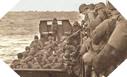 Image : Ces soldats Américains rejoignent la barge qui va les mener au rivage Normand
