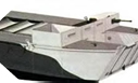 Image : A model of LCA (for Landing Craft Assault), a boat used for the landing of 30 soldiers