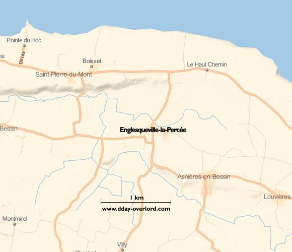 Image : carte du secteur de Grandcamp-Maisy- Bataille de Normandie en 1944
