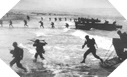 Image :  The first assault wave finally reach Utah Beach