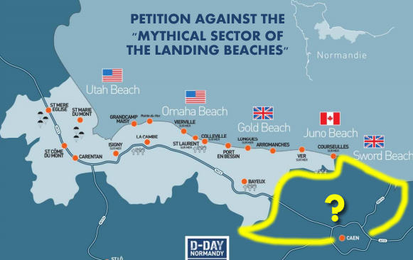 "Image : Petition agains the ""mythical sector of the landing beaches"""