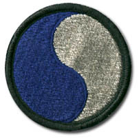 "Image : The shoulder patch of the 29th Infantry Division, nicknamed ""29, let's go!"""