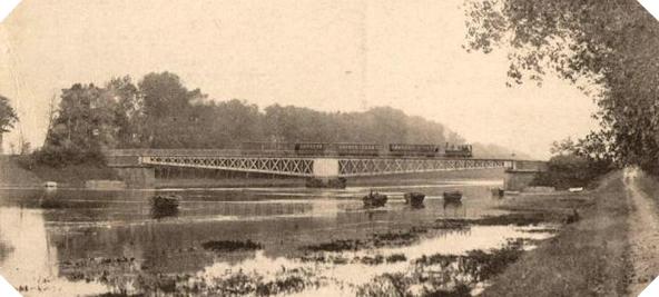 """Image : Le pont de Ranville, rebaptisé """"Horsa Bridge"""", photographié avant la guerre"""