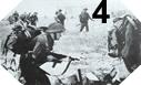 Image : Les commandos progressent dans Ouistreham sous les tirs Allemands