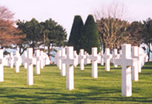 Normandy military cemeteries: pictures