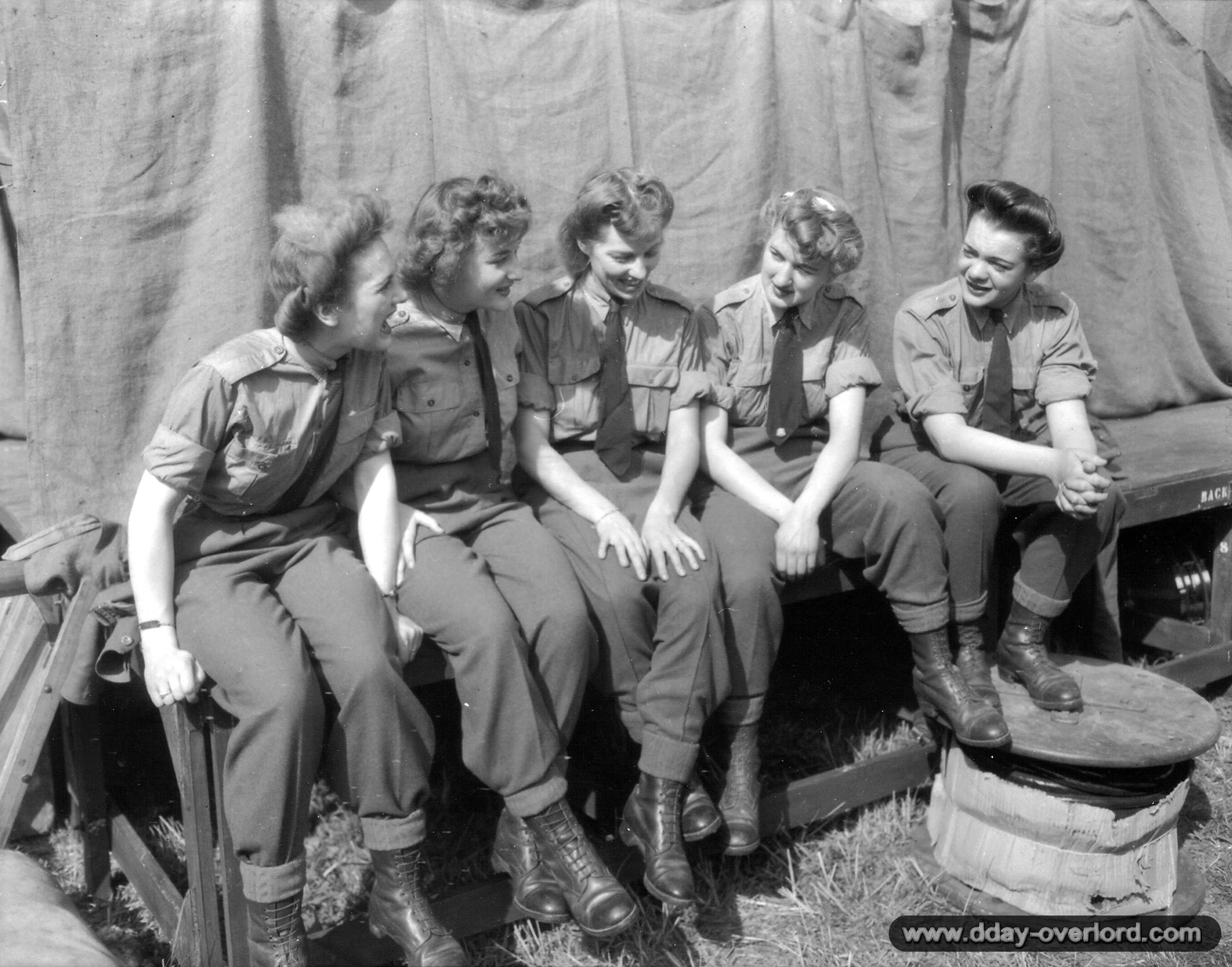 normandy women — an image not seen often at all this is a photo of women arriving, shortly after the men/soldiers did at normandy beach in 1944 these women were part of the red cross efforts which took place shortly after the invasion yes, we honor those men that stormed the beach that day, but let's honor these lovely ladies for doing the same—to help.