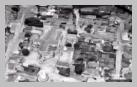 Image : Vue aérienne de la commune de Saint-Vaast-la-Hougue en 1944.