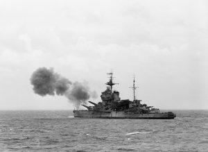 HMS Warspite - Normandie 1944 - IWM