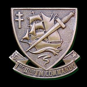 Commando N°4 - Insigne du 1er Bataillon Fusiliers Marins – Commando Kieffer
