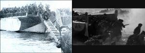"""A gauche, un chaland type LCIs utilisé par le commando Kieffer à Sword Beach, à droite un chaland LCVP (pourtant baptisé """"LCA"""", qui est un autre type d'embarcation) utilisé dans le film Le Jour le plus long."""