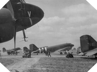 Image : Aérodrome en Grande-Bretagne en 1944