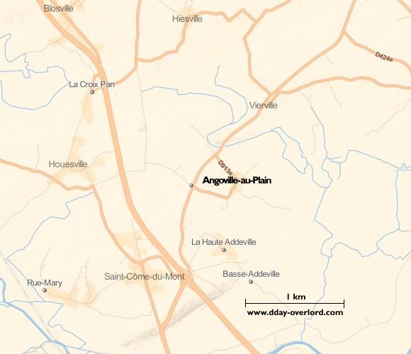 Image : carte de la commune de Angoville-au-Plain