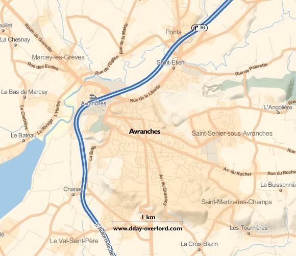 Image : carte de Avranches