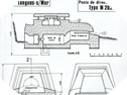 Image : Plans et caractéristiques du poste d'observation de la batterie de Longues (modèle M262a)