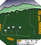 Image : plan de la batterie de Longues