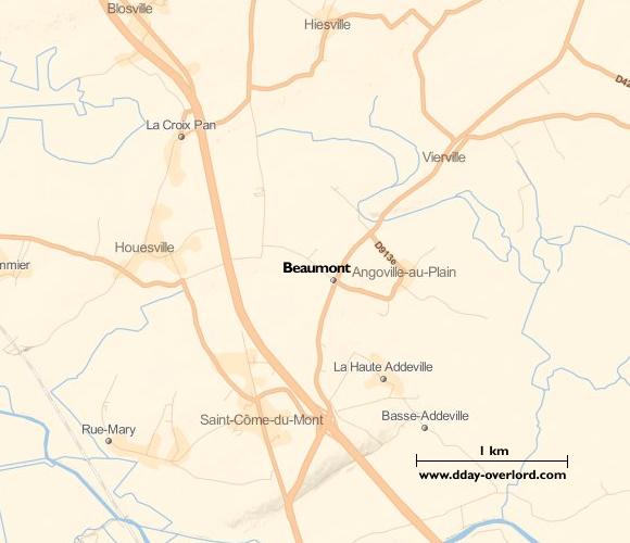 Image : carte de la commune de Beaumont