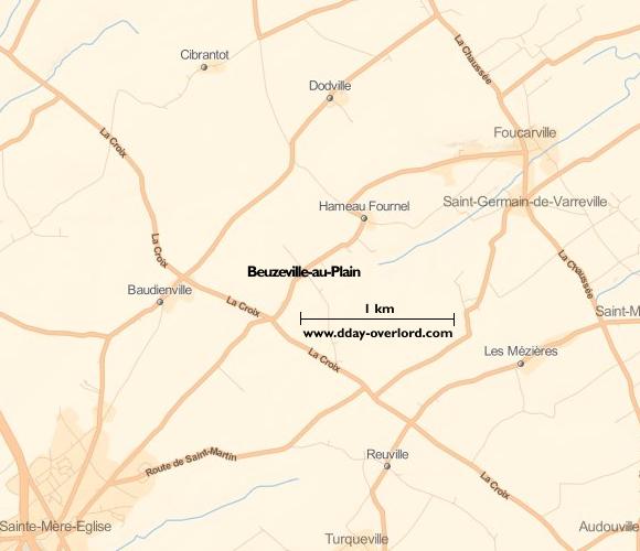 Image : carte de Beuzeville-au-Plain