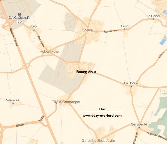 Image : carte de la commune de Bourguébus