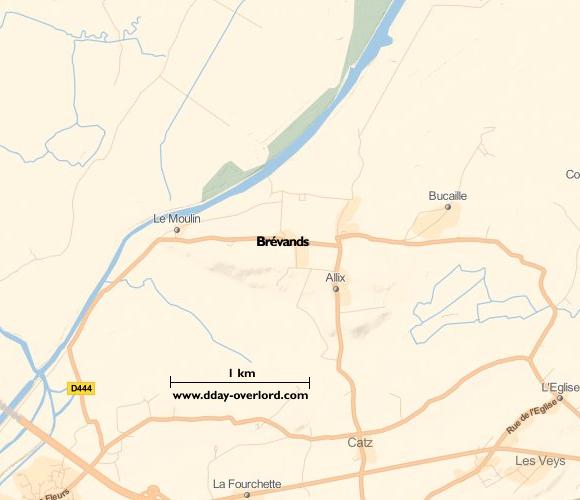 Image : carte de la commune de Brévands