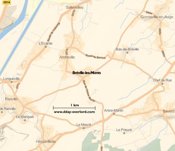Image : carte de Bréville-les-Monts