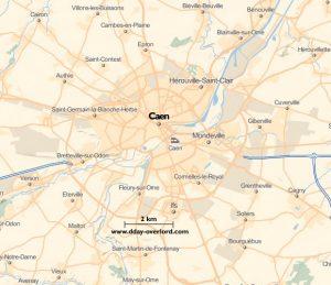 Image : Carte de Caen dans le Calvados