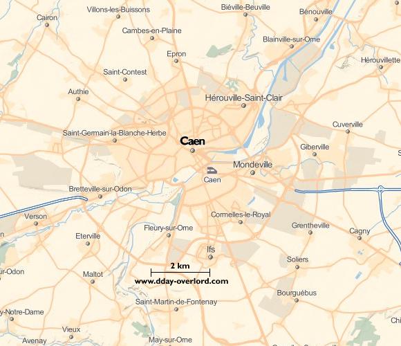 Caen en 1944 - Calvados - Bataille de Normandie