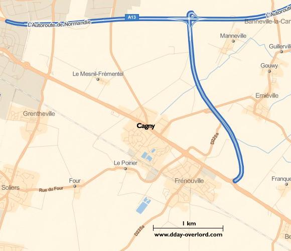 Image : carte de la commune de Cagny