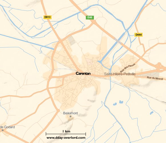 Image : carte de la commune de Carentan