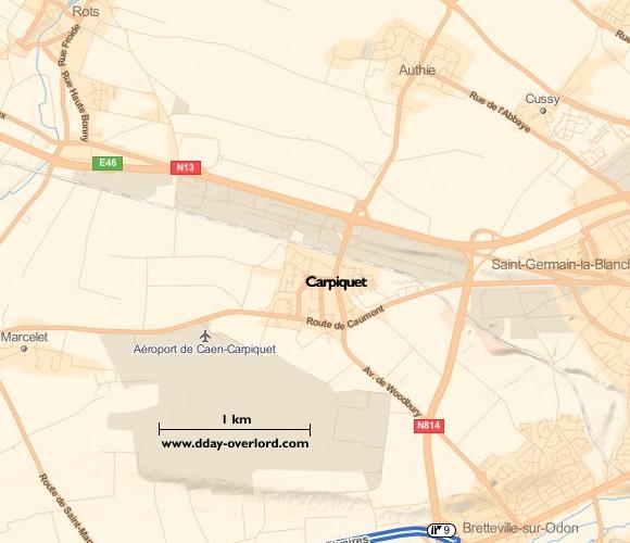 Image : Carte de Carpiquet dans le Calvados