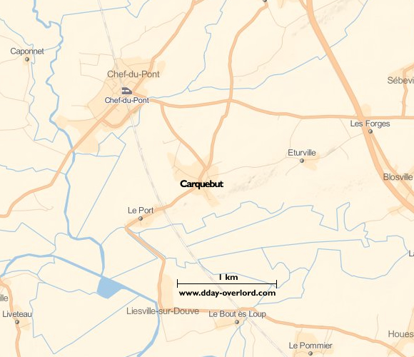 Image : carte de Carquebut