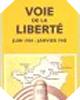 Image : Carte historique (Juin 1944-Janvier 1945), numéro 105 : Voie de la liberté (réimpression de la carte de 1947)