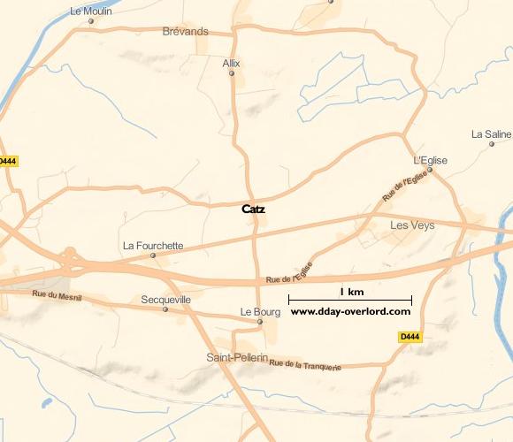 Image : carte de la commune de Catz