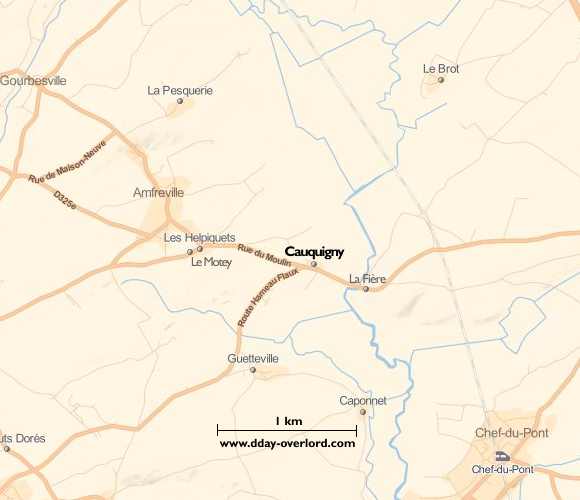 Image : carte de Cauquigny
