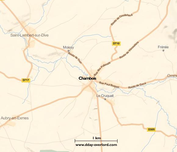 Image : Carte de Chambois dans l'Orne
