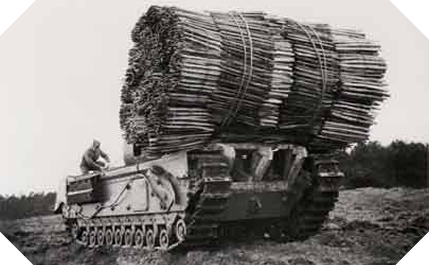 Image : Char Mark IV Churchill Fascine
