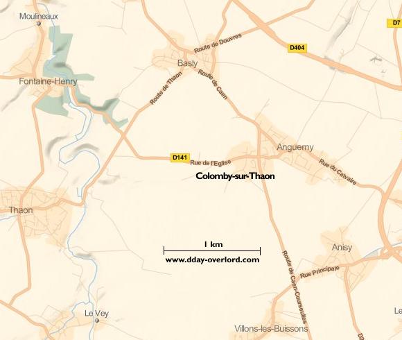 Image : Carte de Colomby-sur-Thaon dans le Calvados