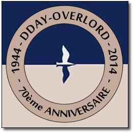 Image : logo officiel D-Day Overlord du 70ème anniversaire du débarquement de Normandie