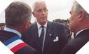 Image : L'Amiral Brac de la Perrière, Président du Comité des Commémorations du Débarquement (au milieu) (6 juin 2003)
