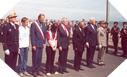 Image : Dépôt de gerbes par les officiels à Vierville sur Mer (6 juin 2003)