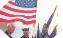 Image : Porteurs de drapeaux à Utah Beach (6 juin 2003)