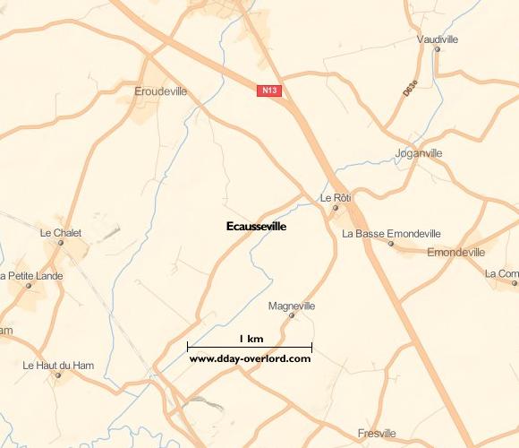 Image : carte de Ecausseville