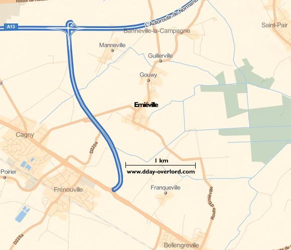 Image : carte de la commune de Emiéville