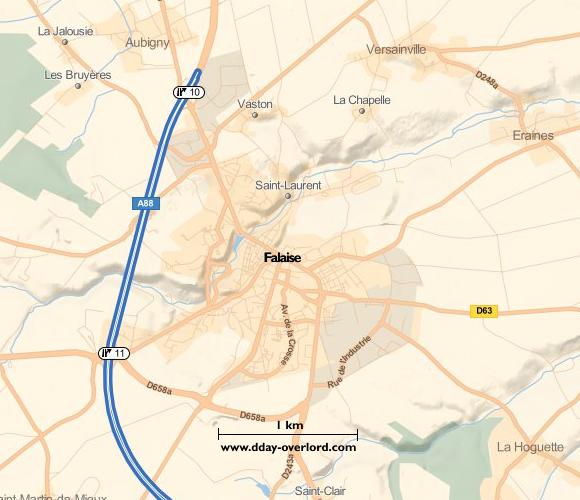 Image : Carte de Falaise dans le Calvados