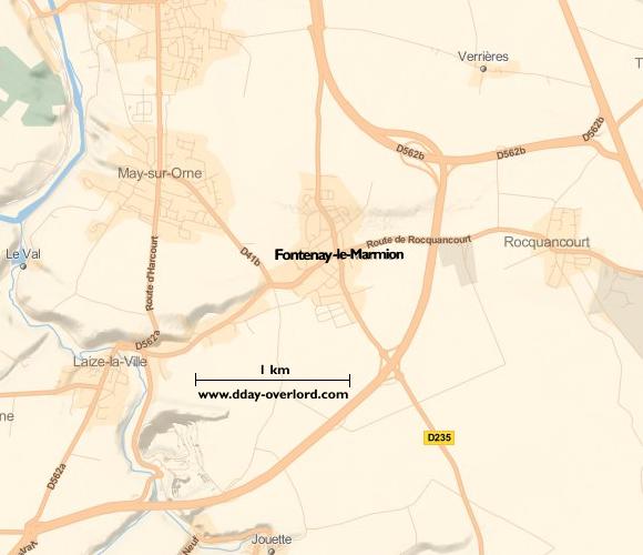 Image : carte de la commune de Fontenay-le-Marmion