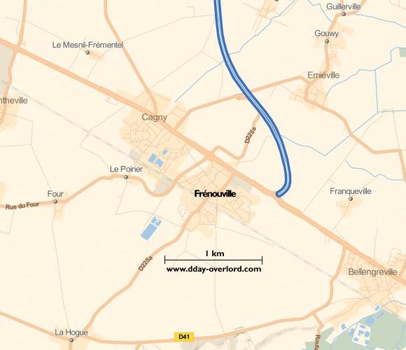 Image : carte de la commune de Frénouville