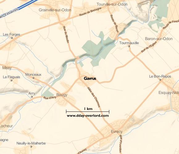 Image : Carte de Gavrus dans le Calvados