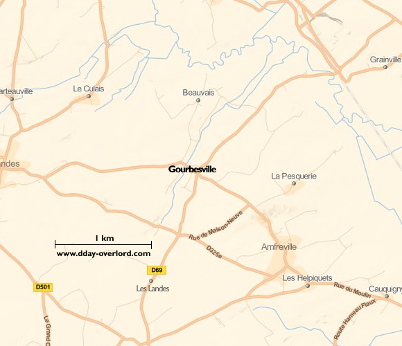 Image : carte de Gourbesville