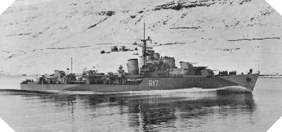 Image : destroyer HMCS Algonquin