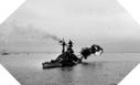 Image : L'HMS Ramillies ouvre le feu sur les positions allemandes le 6 juin 1944